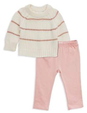 Sovereign Code Girls' Striped Knit Sweater & Leggings Set - Baby