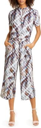 Ted Baker Balay Quartz Mix Pattern Short Sleeve Jumpsuit