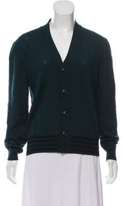 Marc Jacobs Wool V-Neck Cardigan black Wool V-Neck Cardigan