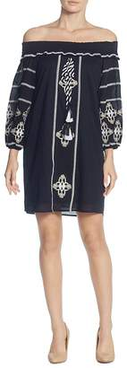 Catherine Malandrino Muriel Off-the-Shoulder Embroidered Dress