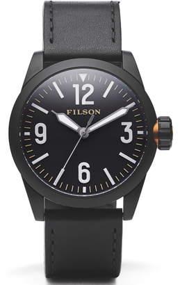 Filson Field Leather Strap Watch, 41mm