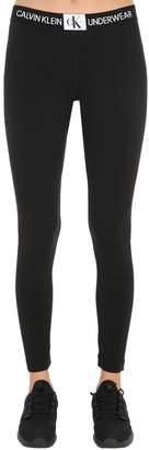 Calvin Klein Underwear Logo Cotton Blend Jersey Leggings