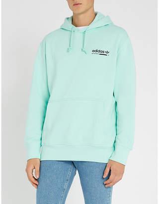 adidas Kaval logo-print cotton-jersey hoody