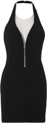 Alexander Wang Zip Detail Halter Mini Dress