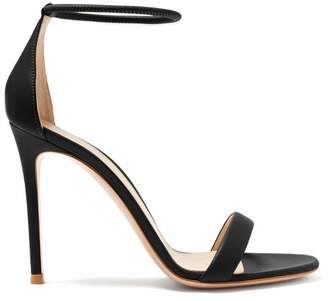 Gianvito Rossi Simple Strap 105 Leather Sandals - Womens - Black