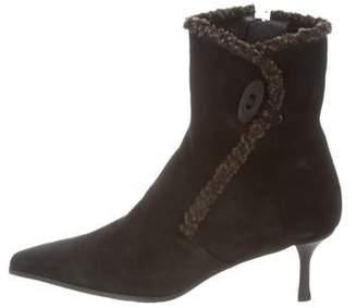 Stuart Weitzman Suede Mid-Heel Boots