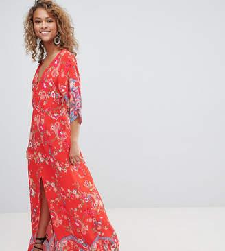 Miss Selfridge kimono sleeve floral printed maxi dress