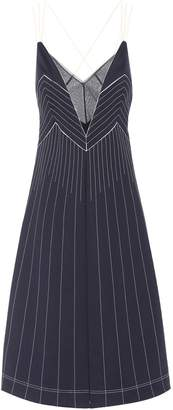 Valentino Tech-Jersey Halter Midi Dress