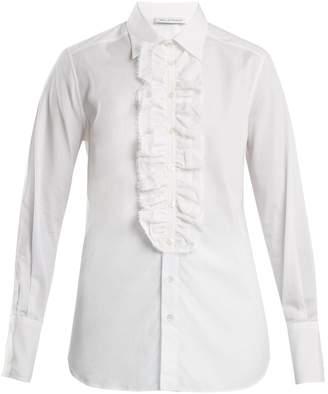 Bella Freud Dado ruffle-trim cotton shirt