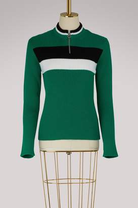 RED Valentino Zipped crew neck sweater