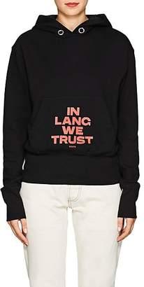 """Helmut Lang Women's """"In Lang We Trust"""" Cotton Hoodie - Black"""