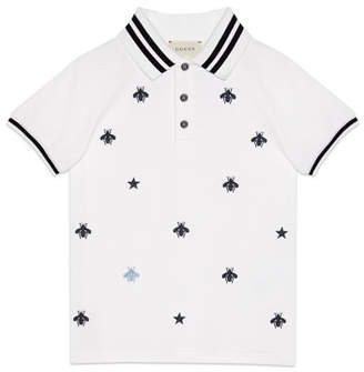 f7d4a0f7b Gucci Bees & Stars Embroidered Polo Shirt, ...