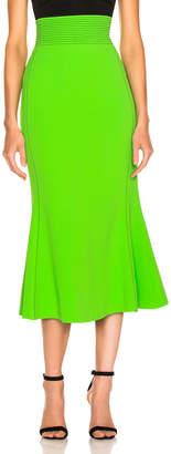 David Koma Flared Skirt in Green & Black | FWRD