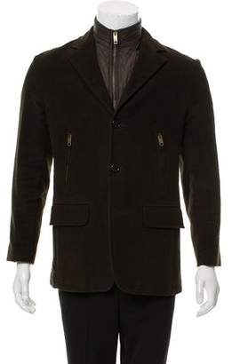 Burberry Felt Zip-Accented Jacket