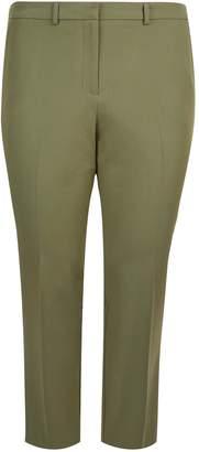 Dorothy Perkins Womens **Dp Curve Khaki Elastane Ankle Grazer Trousers