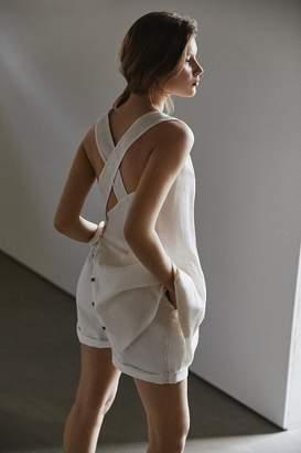 Urban Renewal Vintage Remnants Linen Cross-Back Drop Waist Dress