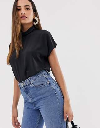 Asos Design DESIGN short sleeve high neck top