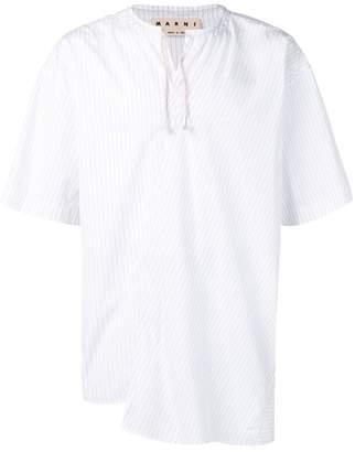 Marni drawstring fastening shirt