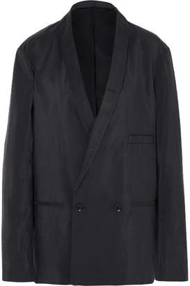 Lemaire Double-breasted Silk-blend Blazer - Charcoal