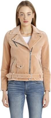 Velvet Biker Jacket