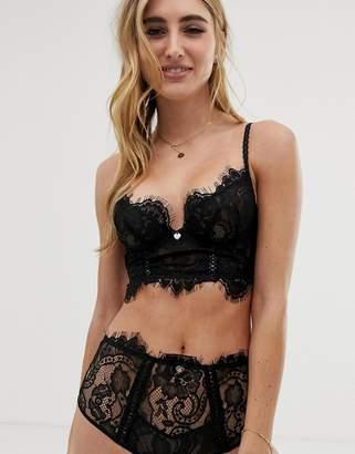 cbecedea0c9d0 Lipsy Lonnie longline lace bra in black
