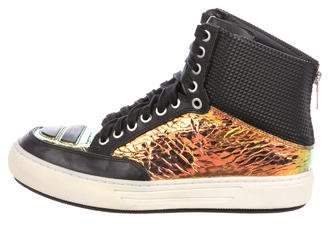 Alejandro Ingelmo Jeddi Metallic Sneakers