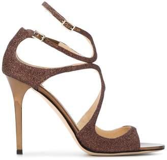 Jimmy Choo Bronze Paloma Lang 110 glitter Sandals