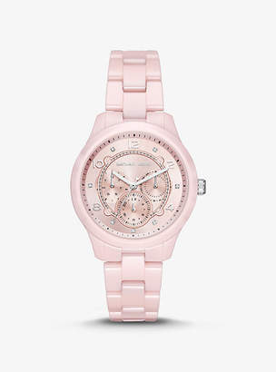 Michael Kors Runway Ceramic Watch