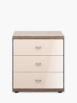 2fa499dfc2c John Lewis   Partners Satis Glass Front 3 Drawer Bedside Table