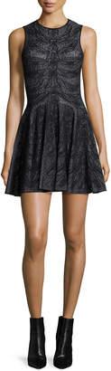 Alexander McQueen Sleeveless Spine Lace Dress