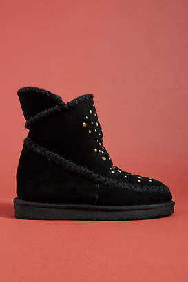 GIOSEPPO Studded Sherpa Boots