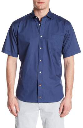 Thomas Dean Patterned Short Sleeve Regular Fit Shirt