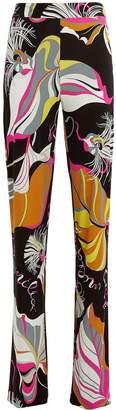 Emilio Pucci Leaves Printed Pants