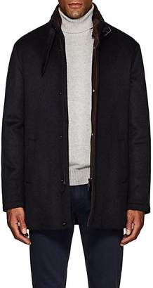 Barneys New York Men's Double-Collar Brushed Cashmere Coat