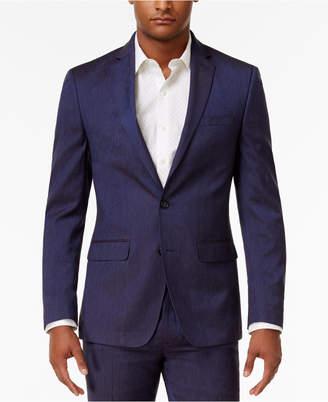 Sean John Men's Classic-Fit Blue Solid Suit Jacket $275 thestylecure.com