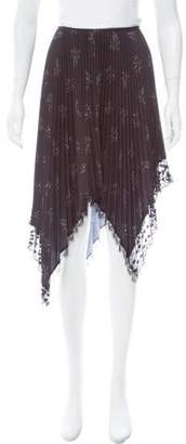 Sharon Wauchob Lace-Trimmed Pleated Skirt w/ Tags