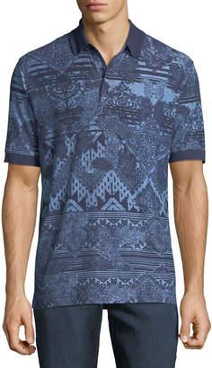 Robert Graham Men's Koppen Short-Sleeve Paisley Polo Shirt