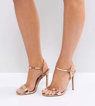 1341534a7b6 Barely There Asos Design ASOS DESIGN Wide Fit Hands Down heeled sandals