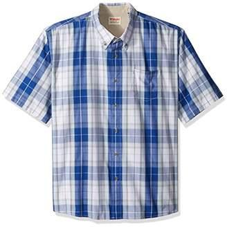 Wrangler Authentics Men's Big & Tall Short Sleeve Plaid Woven Shirt