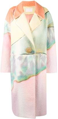 Peter Pilotto Multicoloured RNY MTCH PAINTED BOUCLE COAT