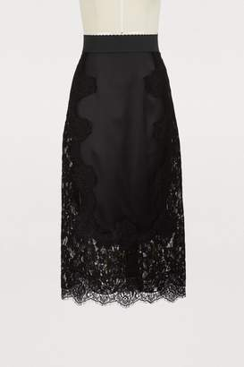 Dolce & Gabbana Lace silk skirt