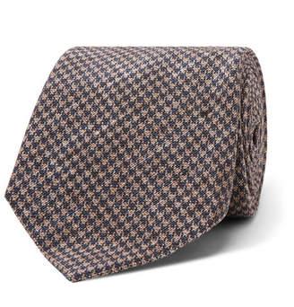 Brunello Cucinelli 5cm Puppytooth Linen And Silk-Blend Tie