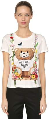 Moschino Slim Fit Bear Printed Jersey T-Shirt