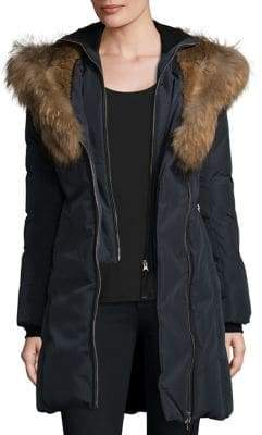 Mackage Trish Fur Trim Hooded Down Coat