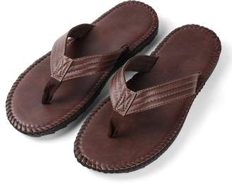 Aerusi Rio Groove Flip Flop Sandals Brown Size 10 Regular US