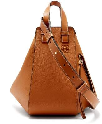 Loewe Hammock Grained Leather Tote Bag - Womens - Tan