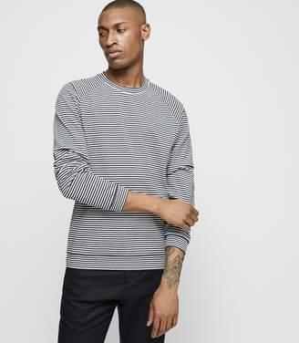 Reiss MOSTON Striped cotton jumper