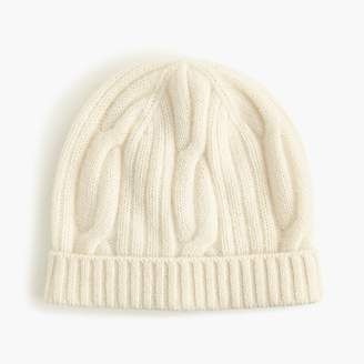 J.Crew Ribbed cable-knit beanie in everyday cashmere