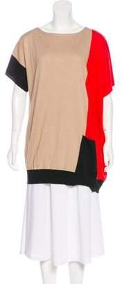 Neiman Marcus Silk & Linen-Blend Tunic