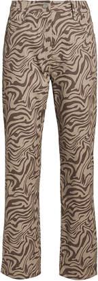 Miaou Zebra Print Junior Jeans